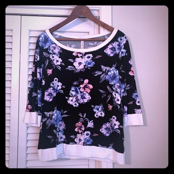 My Beloved... Tops - Floral banded shirt
